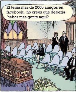 Humor gráfico - Los amigos de Facebook