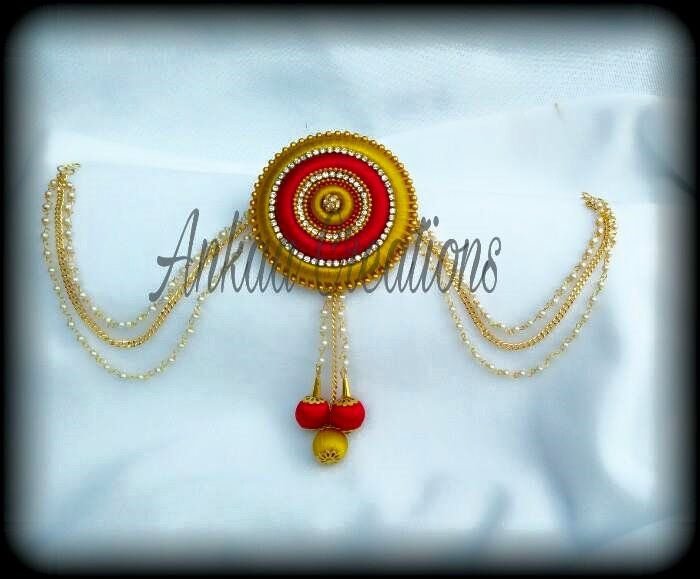 bridal silk thread hair brooch... ..plz visit our page https://www.facebook.com/ankaa.creations for more collections and do plz hit a like button..