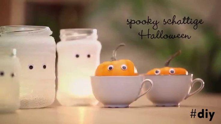 Libelle viert Halloween: mummiepotjes