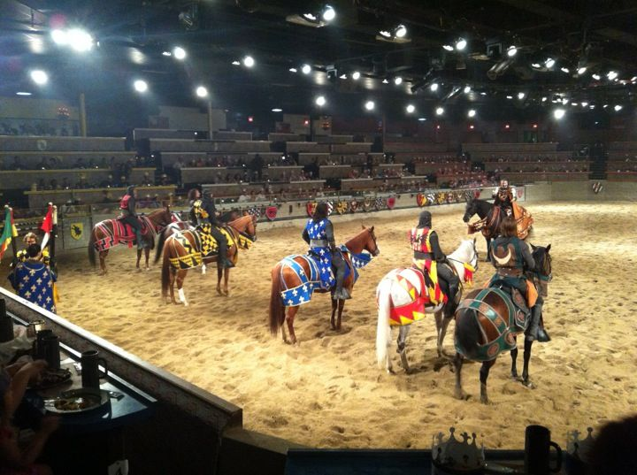 Go back in time to the Middle Ages with a dinner and a show package at Medieval Times near Anaheim. Watch a knight's tale unfold with drama, mystery, treachery, and intrigue as you dig in to a 4-course meal of hearty fare.