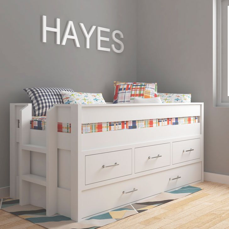 Captains Bed With Trundle Bed With Images Trundle Bed Kids