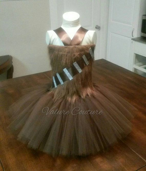 Bodice: Fur on front only; Brown crochet stretch back. Brown tulle & ribbon…
