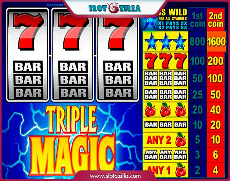 Triple Magic free #slot_machine #game presented by www.Slotozilla.com - World's biggest source of #free_slots where you can play slots for fun, free of charge, instantly online (no download or registration required) . So, spin some reels at Slotozilla! Triple Magic slots direct link: http://www.slotozilla.com/free-slots/triple-magic