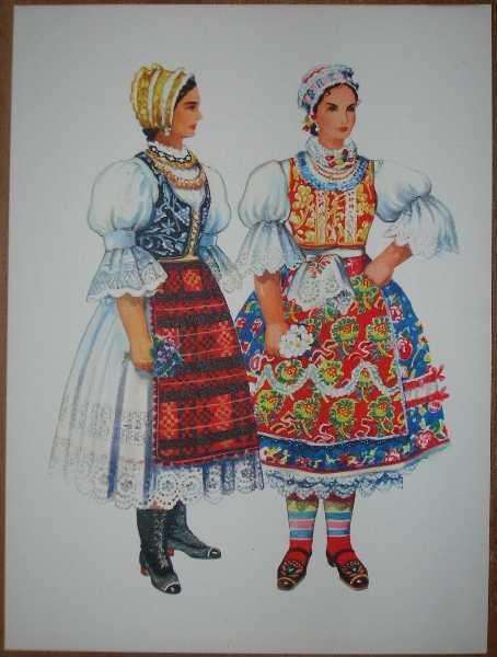 Serbian and Hungarian Folk Costume