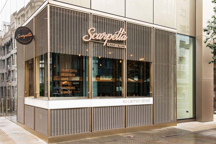 Scarpetta restaurant design and branding by I AM London UK Scarpetta restaurant design and branding by I AM, London UK
