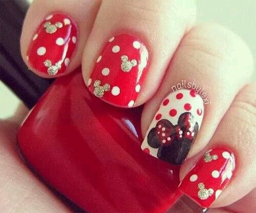 unas disenos Minnie Mouse, Minnie Mouse nail design Discover and share your  nail… - 66 Best Disney Nails Images On Pinterest Disney Nails, Disney