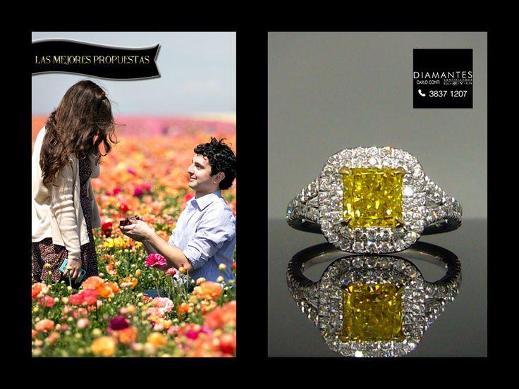 Un #anillo de #diamante canario para una propuesta en #primavera.  #LasMejoresPropuesas