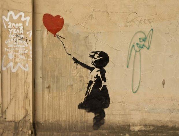ljudabsorbenter Banksy streetart