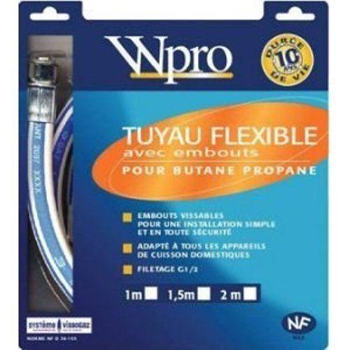Wpro TBC208 Butane/Propane Longueur: 2 m: Price:19.87Type de gaz : Butane/PropaneLongeur : 2 mGarantie : 10 ans Frequently Bought Together…