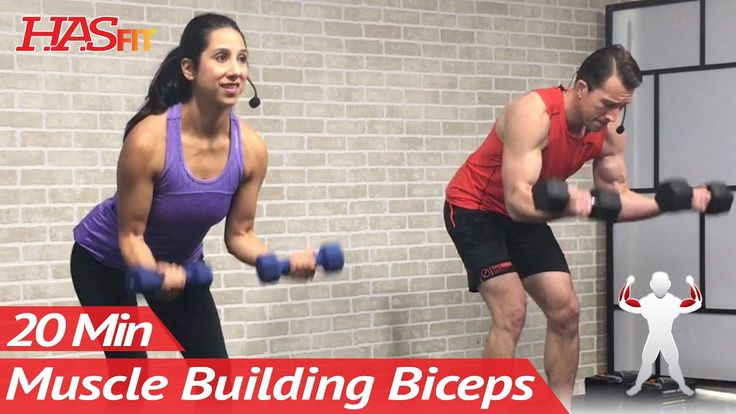 20 Min Home Bicep Workout with Dumbbells - Dumbbell Biceps Workout at Home Exercises Mass - YouTube