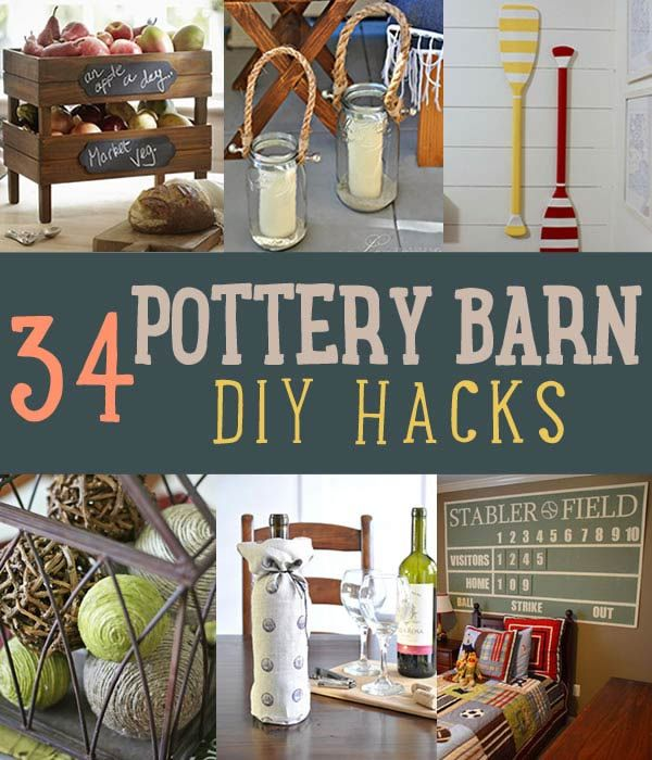 34 DIY Pottery Barn Hacks Your Wallet Will Thank You For Http://diyready