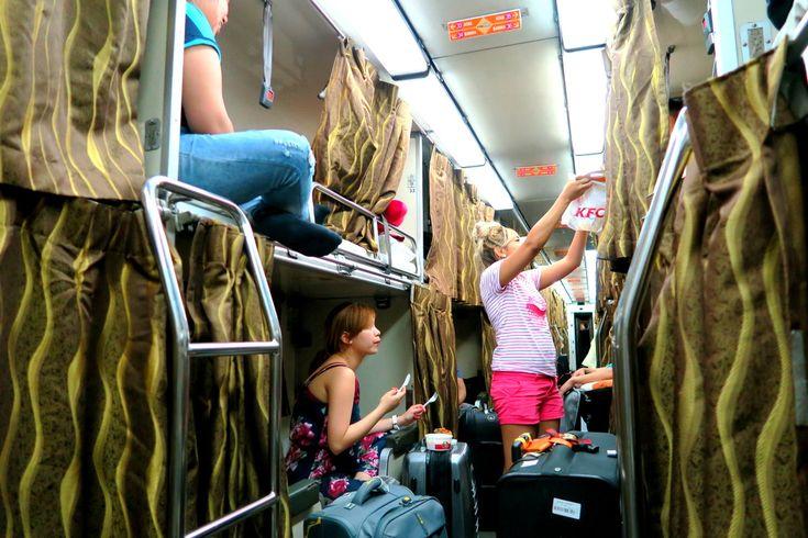 Фото - подорожі по світу: Ночной поезд из Сингапура в Куала Лумпур