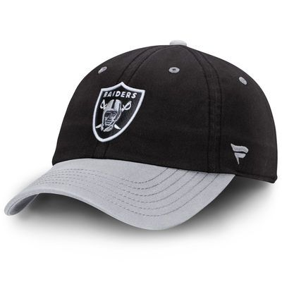 Oakland Raiders Pro Line Iconic Fundamental Adjustable Hat - Black/Silver