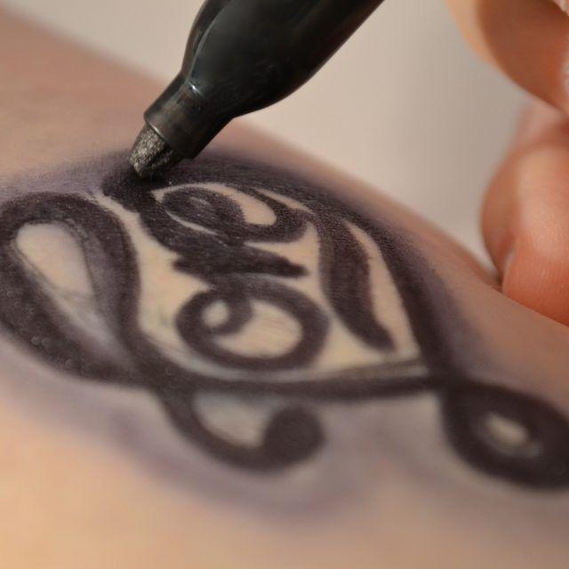 How to Make a Fake Tattoo With a Sharpie