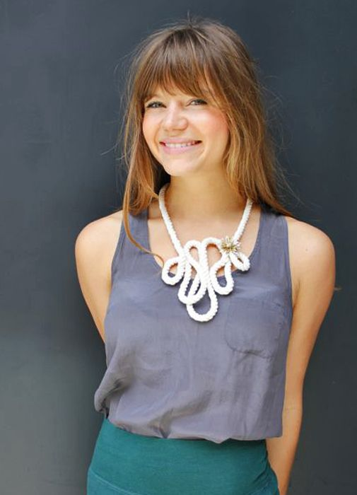#DIY rope necklace