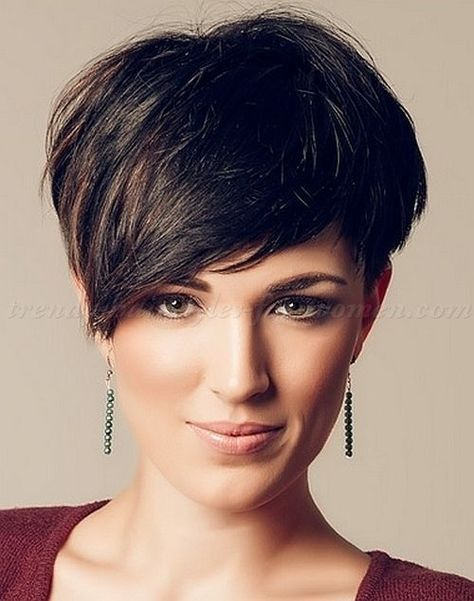 short hairstyles with long bangs, short hair long fringe - short asymmetrical haircut