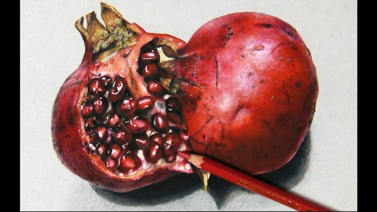 How I draw a Pomegranate, Hyper realistic art