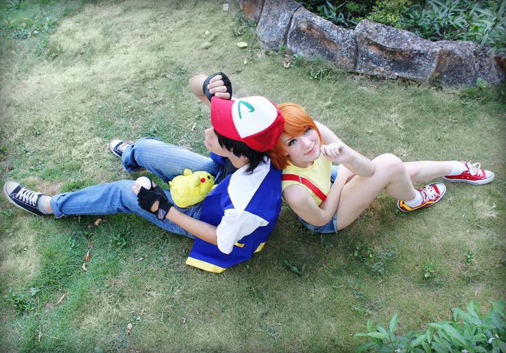 Pokemon  Ash and Misty with Pikachu cosplay