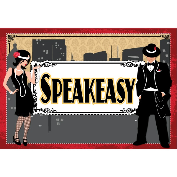 Roaring twenties speakeasy party sign roaring twenties for 1920s party decoration speakeasy