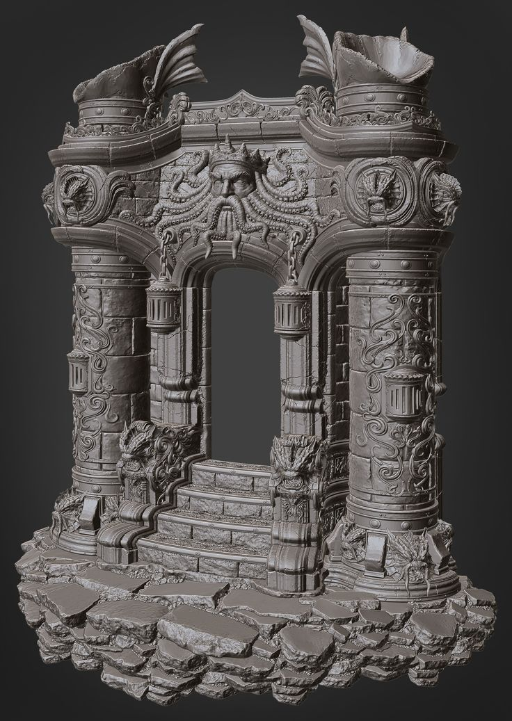 ArtStation - Poseidon Tower, Brian Trochim