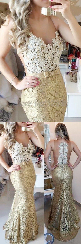 lace prom dresses,mermaid prom dresses,v neck prom dresses, cheap mermaid prom dresses,high quality prom party dresses,gold lace mermaid prom evening dresses