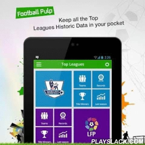 "Football Pulp - Watch It Live!  Android App - playslack.com , If you are a True Football Fan and don't want to miss a single update about your favorite club and all the major football leagues, including UEFA Champions League then you need a butt-kicking Football app made by Football fanatics. That app is ""Football Pulp"". Football Pulp keeps you connected with the world of football through all the latest updates, news, live scores, match fixtures/schedules and gossips from the world's biggest…"