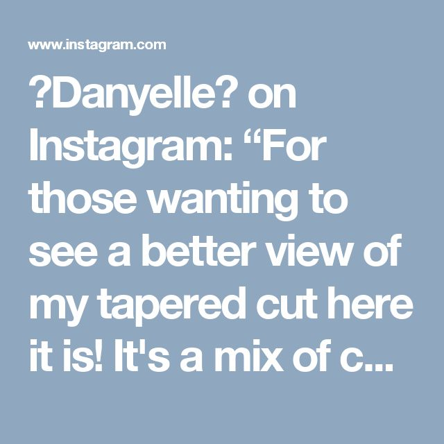 """🐸Danyelle🎀 on Instagram: """"For those wanting to see a better view of my tapered cut here it is! It's a mix of comb coils in the back and flexi rods in the front/top.…"""" • Instagram"""