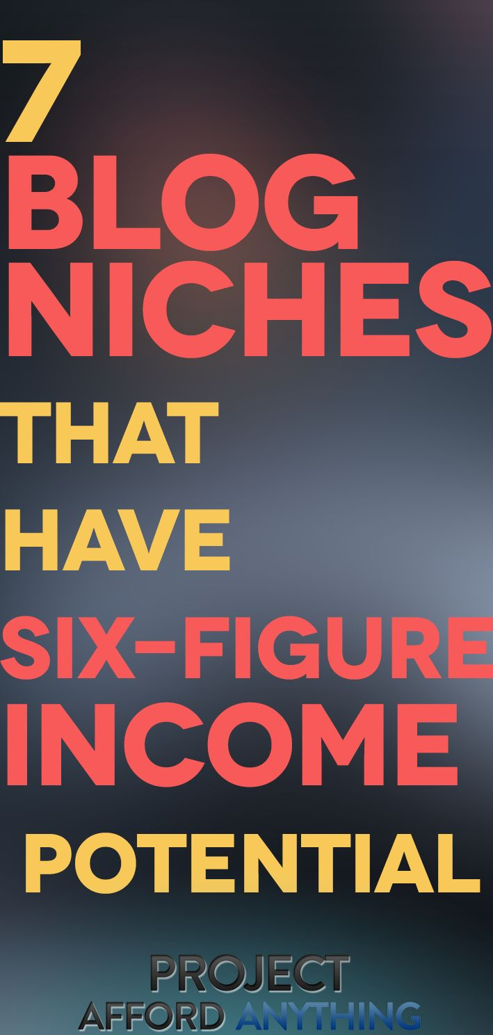 7 Blog Niches That Have Six-Figure Income Potential – Ryan Robinson