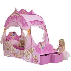 Disney Princess Hemelbed  Slapen in een echt prinsessen bed! De droom van elke kleine meid. Dit Disney hemelbed is uitgevoerd met LED lampjes. De LED lampjes kunnen tevens als nachtlampjes gebruikt worden. Kinderen voelen zich als een prinses in deze schitterende koets!