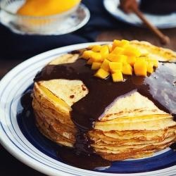 Bailey's Choco Nutella Mango Crepe | For the foody! | Pinterest