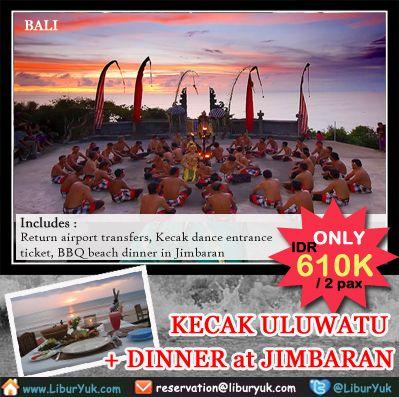 Saksikan tarian #kecak #Bali yang paling dramatis di #Uluwatu dilanjutkan dengan makan malam di pinggir pantai #Jimbaran yang terkenal bersama orang-orang terkasih Anda, kini tersedia paket Kecak Uluwatu + #Dinner di Jimbaran dengan harga terjangkau,buruan booking sebelum kehabisan!  Dapatkan Spesial Paket tersebut dari #LiburYuk http://liburyuk.com/bookitem/75/2014-06-10/Kecak-Uluwatu-%2B-Makan-Malam-di-Jimbaran #jalan2 #AbbeyTravel #holiday