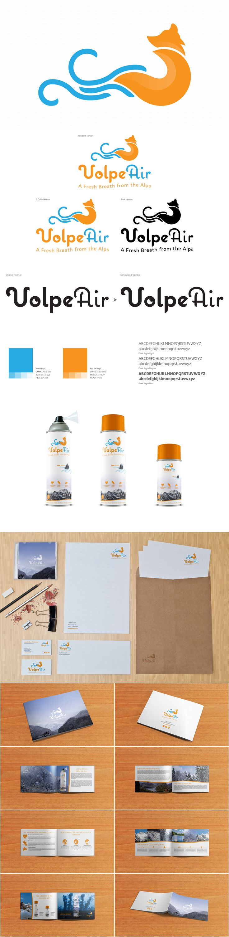Logo and Branding for Volpe Air.