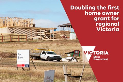 Doubling the first home owner grant for regional Victoria