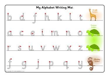 giraffe tortoise and monkey letter formation mats sb9175 sparklebox classroom ideas. Black Bedroom Furniture Sets. Home Design Ideas