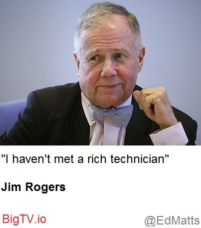 Never get rich with technicals.