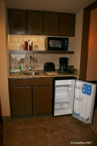 A kitchenette for when you just need a fridge microwave for Kitchen units for studio apartments
