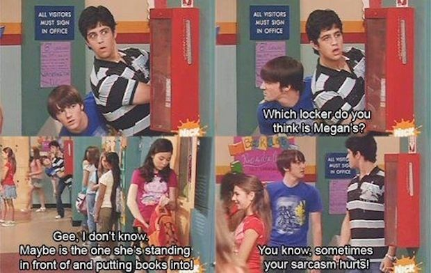 "Sarcasm hurts: | The 28 Most Important Lessons We Learned From ""Drake And Josh"""