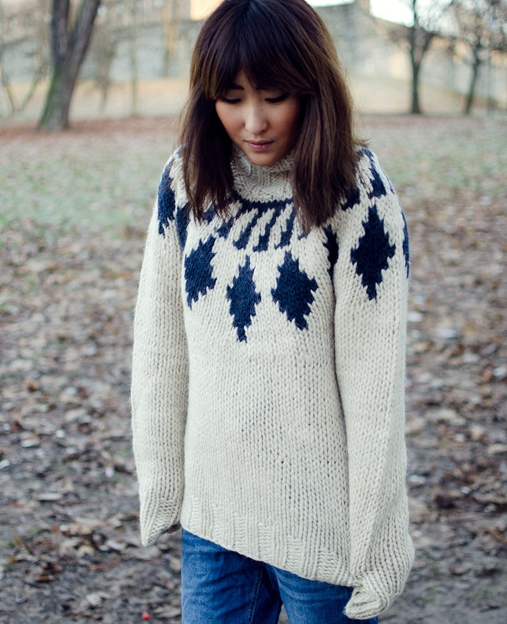 Adore big thick sweaters!