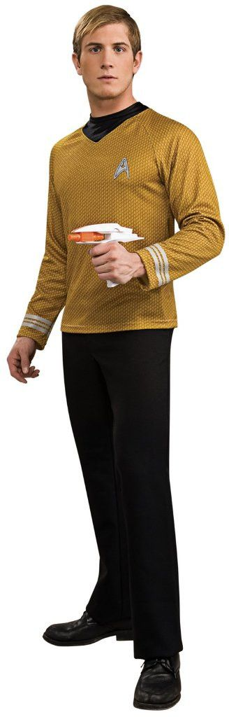 star trek movie (2009) gold shirt adult costume - medium