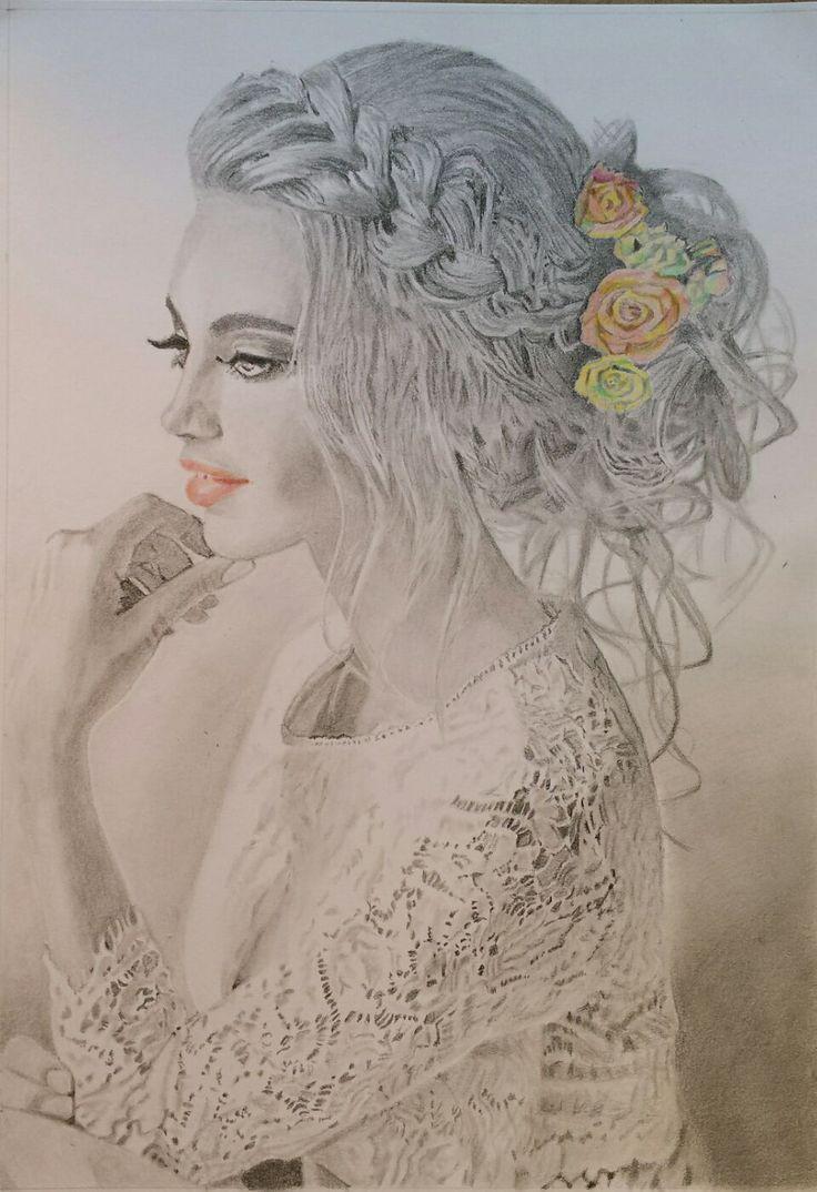 Női portré - Kóka Csilla alkotása