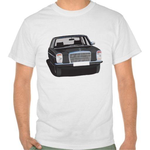 Mercedes-Benz W114/W115 (black) #Mercedes-Benz #220 #60s #70s #auto #car #bil #mersu #mercedes #classic #tshirt #tpaita #troja #black