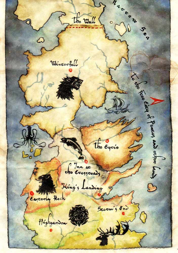 41 best FAN  Game of Thrones Map images on Pinterest  Game of