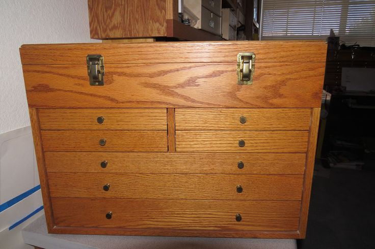 Oak Machinist Tool Box by jjr2001 - I built this solid oak tool box in the early…