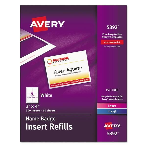 Avery Name Badge Insert Sheets Staples Name Badges How To Do Yoga How To Start Yoga