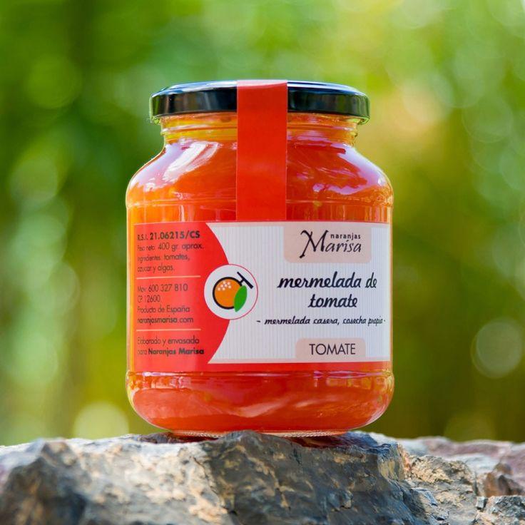 Productos elaborados – Naranjas Marisa. TARRO DE MERMELADA DE TOMATE 400GR. Productos elaborados 100% naturales y de cosecha propia