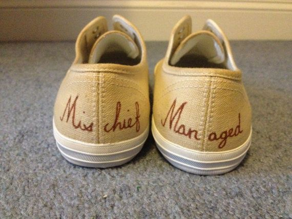 Hand Painted Harry Potter Shoes by gianabucchino on Etsy, $40.00
