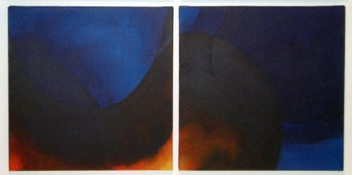 This is an incredible diptych (2 part) painting called Duet for a Cold Heaven by…