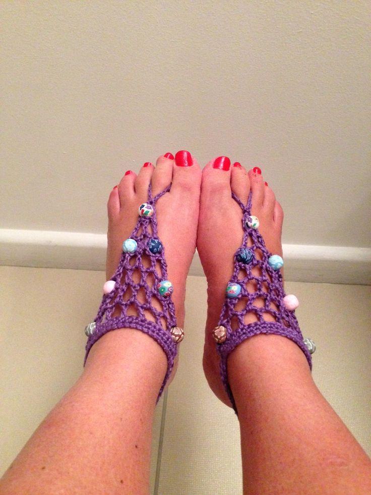 Blote voet sandalen