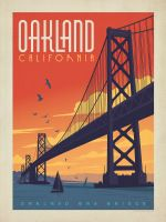 Америка Город Окленд Поп-Арт Путешествия Плакат Классический Ретро Винтаж Крафт…