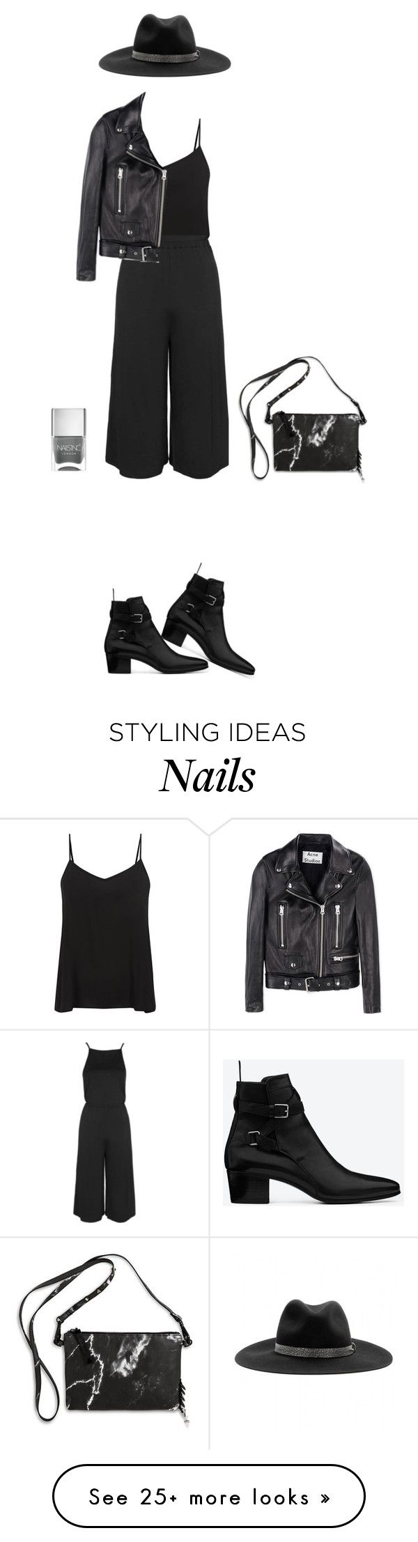 """""""Untitled #106"""" by erum-h on Polyvore featuring Eddie Borgo, Yves Saint Laurent, Nails Inc., rag & bone, Topshop and Acne Studios"""